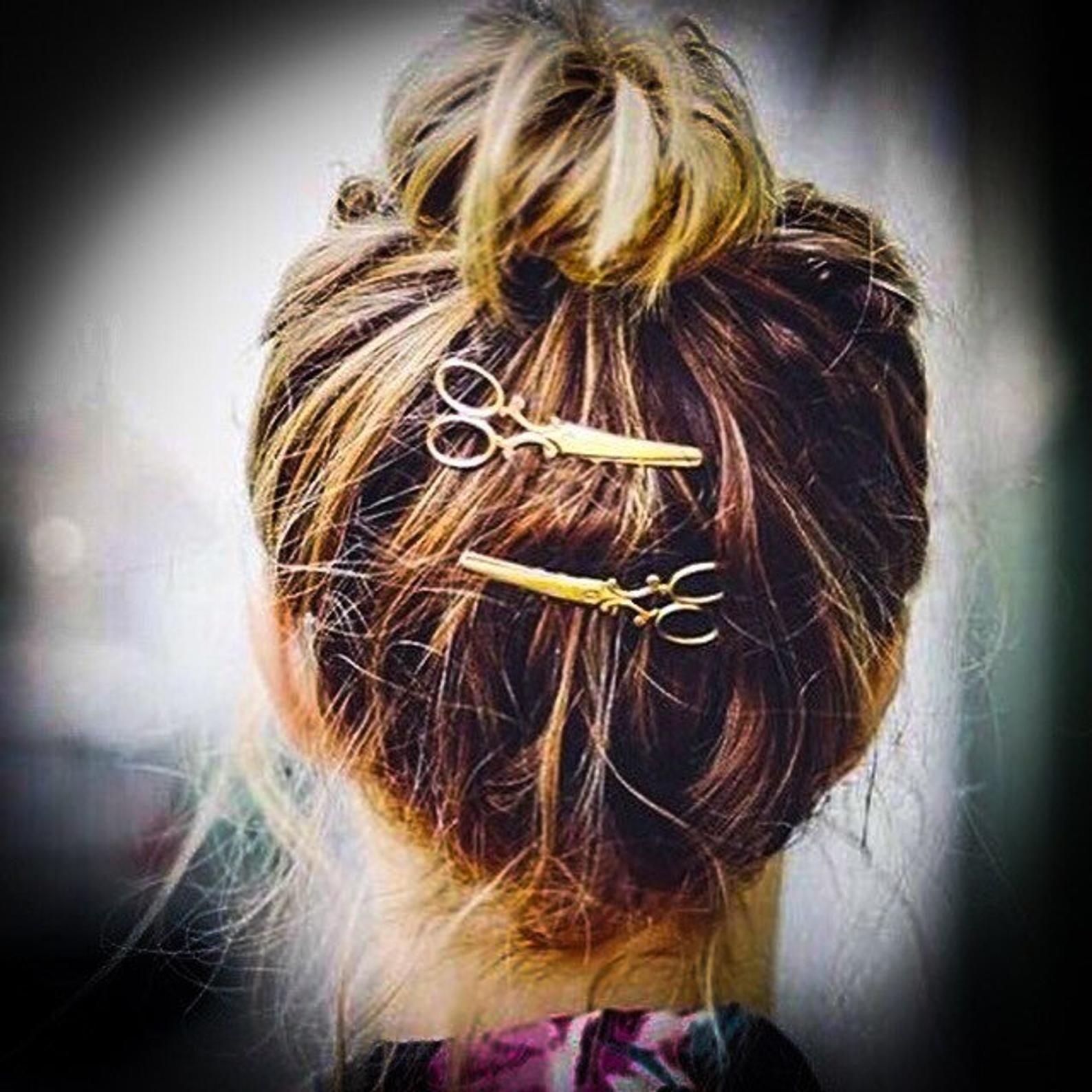 Scissor hair clips 2 clips | Etsy