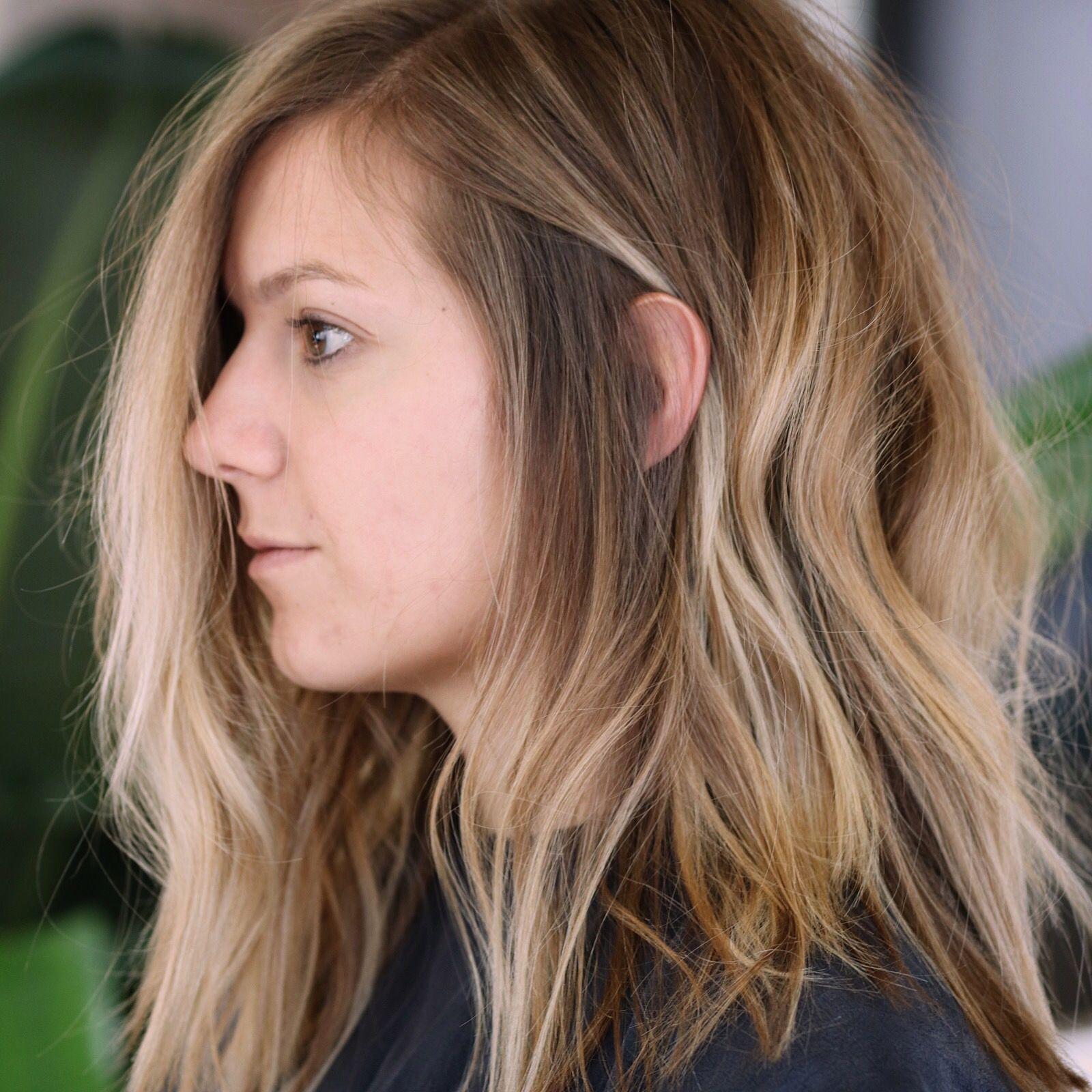Blonde Balayage Choppy Bob Lived In Hair Hair Pinterest
