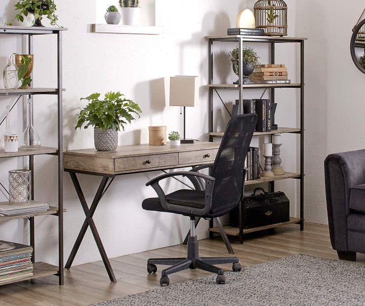 Stratford Rustic 2 Drawer Writing Desk Big Lots Desk In Living Room Rustic Desk Home