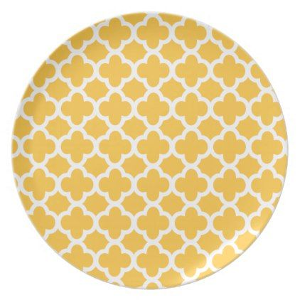 Yellow and White Quatrefoil Melamine Plate - modern gifts cyo gift ideas personalize   modern style   Pinterest  sc 1 st  Pinterest & Yellow and White Quatrefoil Melamine Plate - modern gifts cyo gift ...