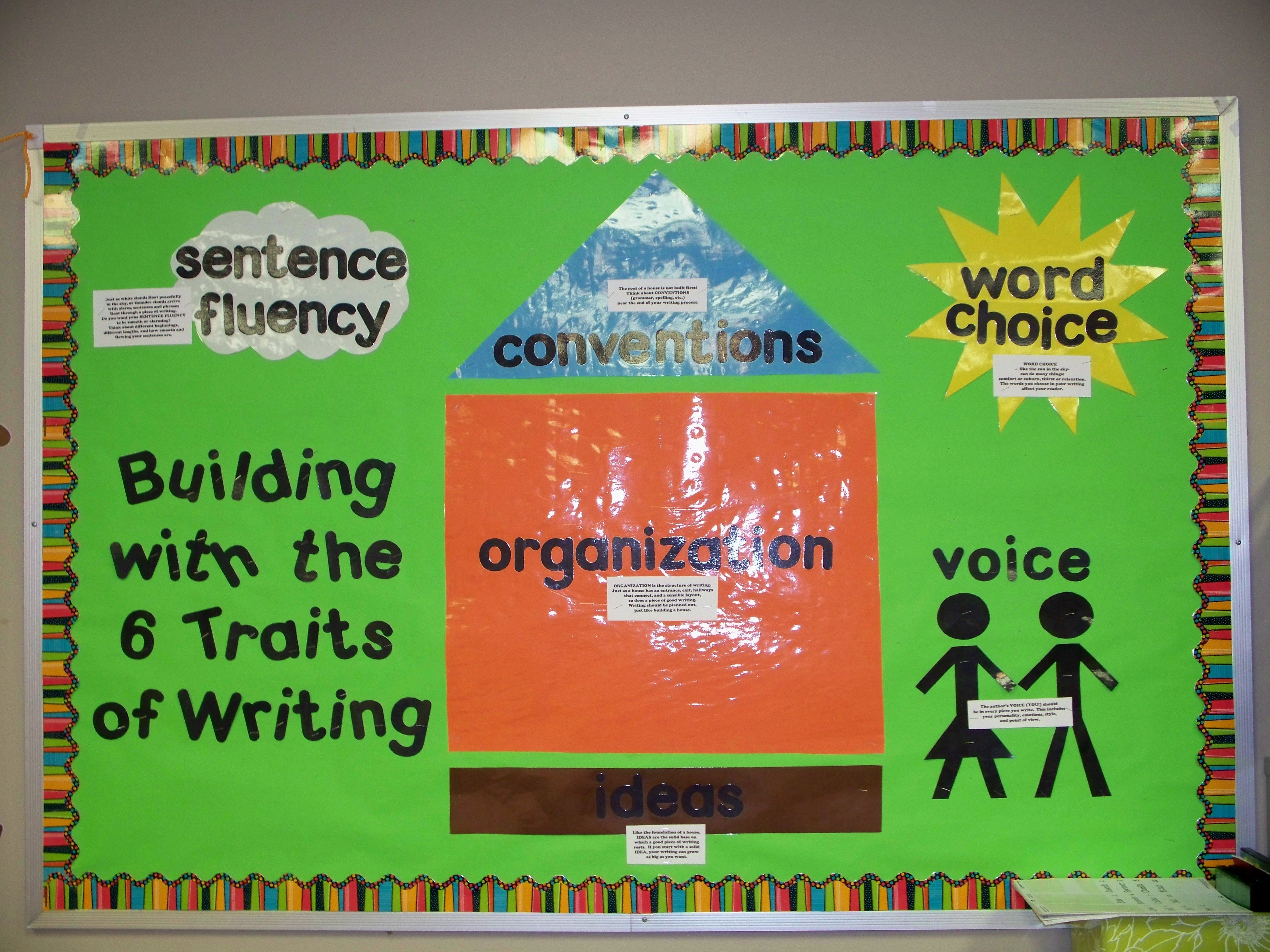 6 traits of writing ideas 6 +1 trait writing - free english learning and teaching resources from varsity   as a mentor text, students plan and write a sentence that develops an idea.