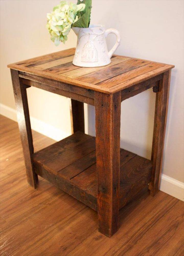 Pallet Wood Side Tables Pallet Furniture Diy Side Table Wood