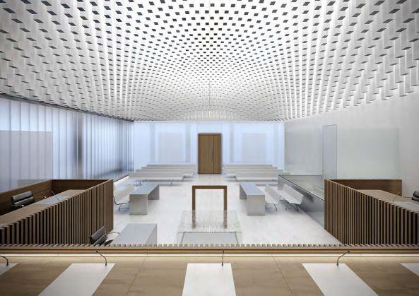 Baumschlager Eberle Bauen Justizgebäude In Caen