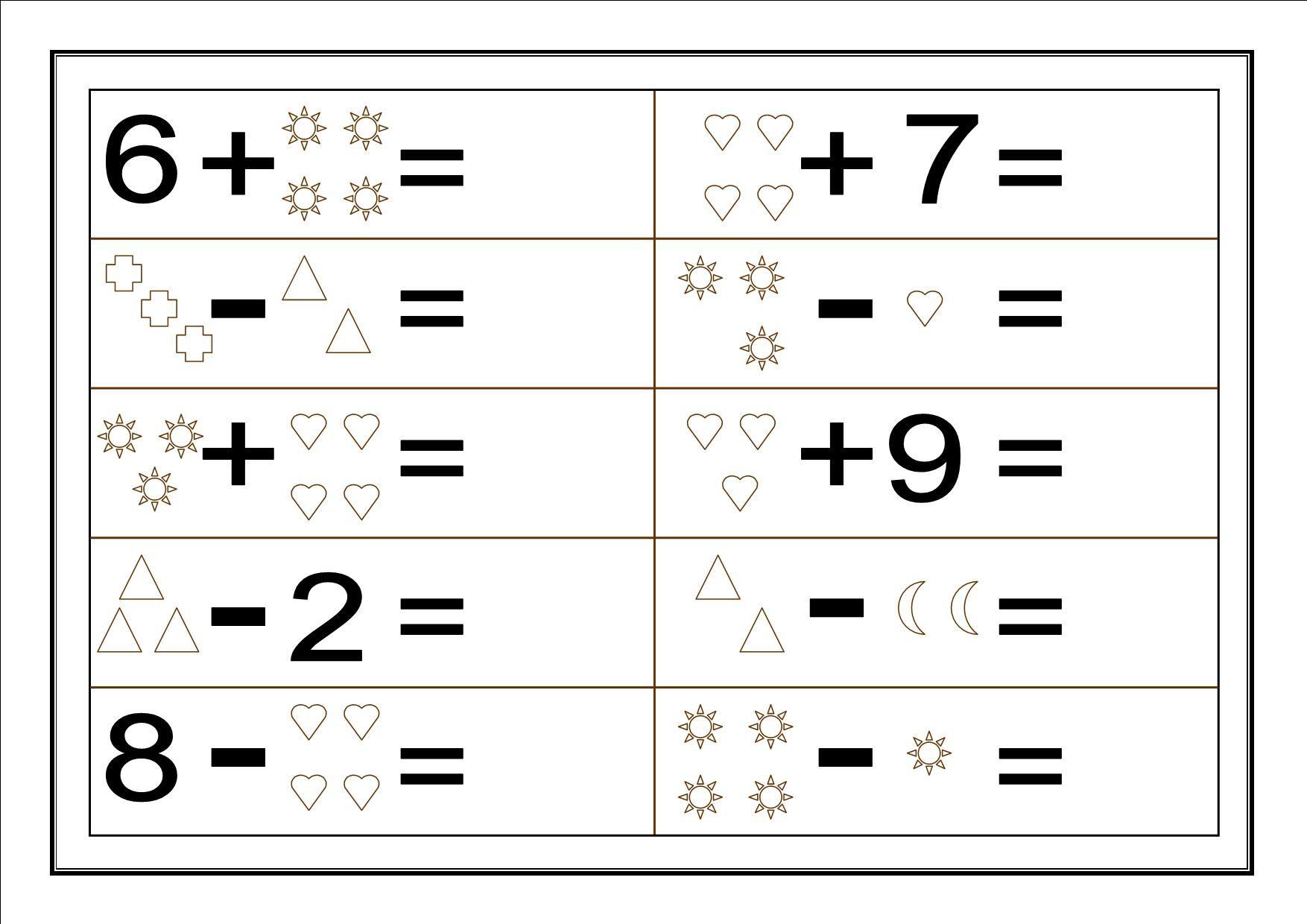 Fichas Para Repasar Sumas Y Restas Escuela En La Nube Recursos Para Infantil Y Primaria Fichas De Matematicas Suma Y Resta Suma Para Ninos