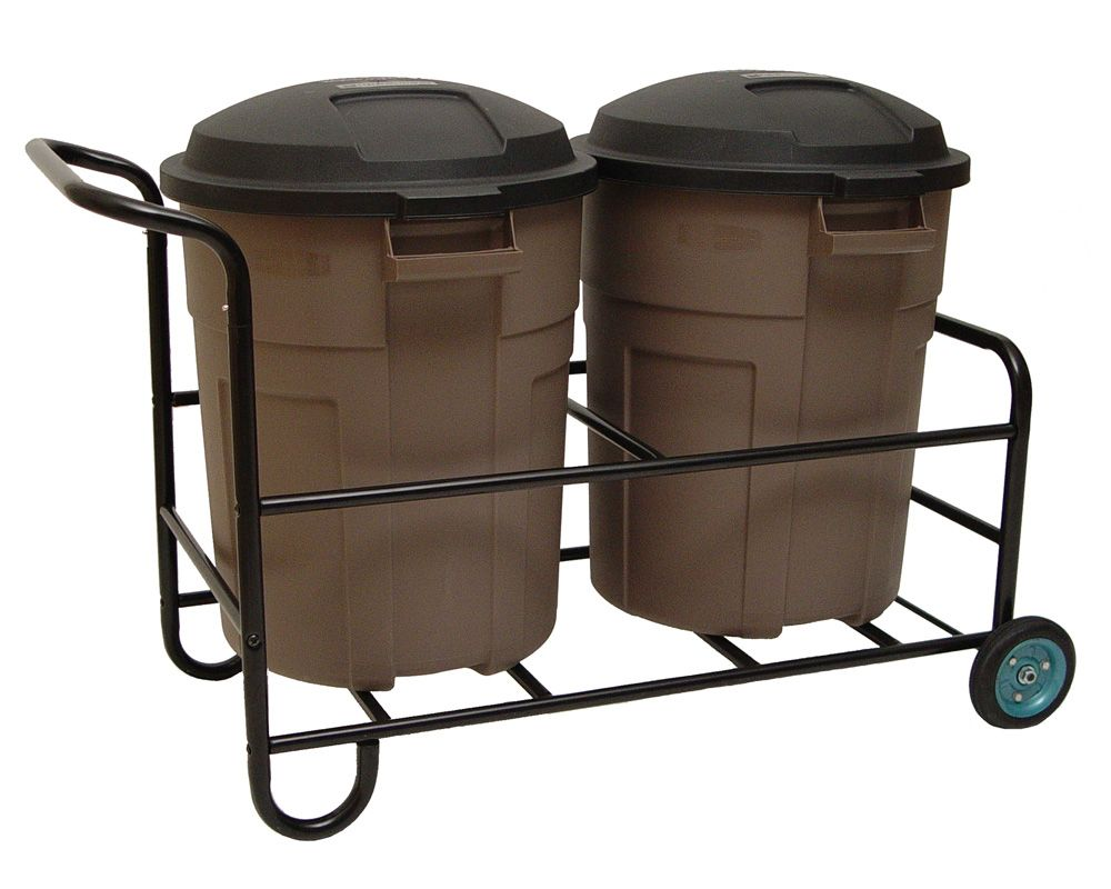 The Garbage Can Cart holds two regular-sized trash cans or two ...