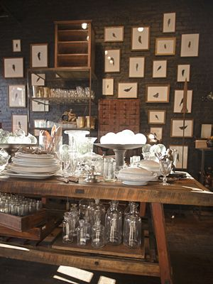 Darr in Brooklyn:     This 950-square-foot store carries vintage botanical prints, beautiful glassware, antique industrial objects, and a fresh mix of home accessories.     (718-797-9733; shopdarr.com)
