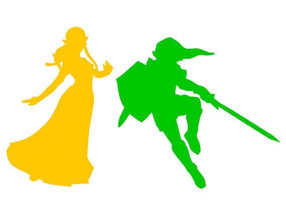 Link And Legend Of Princess Zelda Download Template Svg Ai Eps Cricut Vinyl Princess Silhouette Cricut Explore Air
