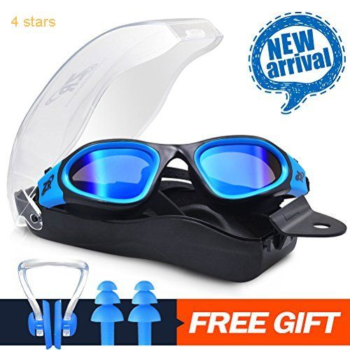 b3795f2654 Swimming Goggles ZIONOR G1 Polarized Swim Goggles with Mirror Smoke Lens UV  Protection Watertight Anti-fog Adjustable Strap Comfort fit for Unisex Adult  Men ...