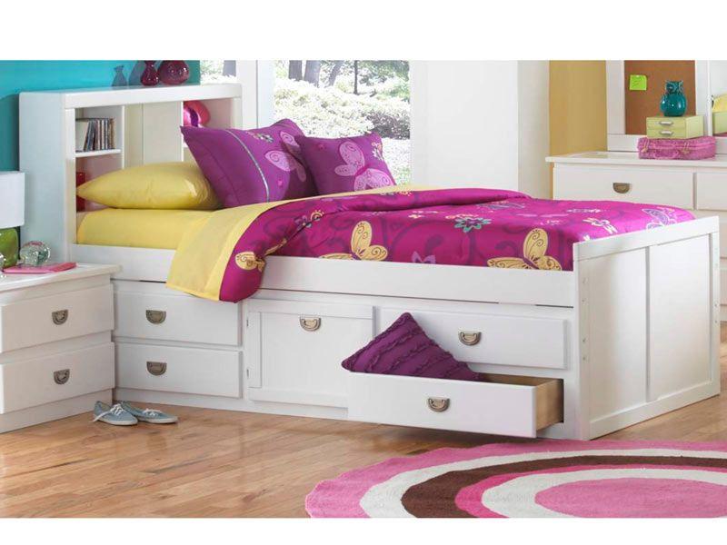 malibu full bed with bookcase headboard new big girl bed