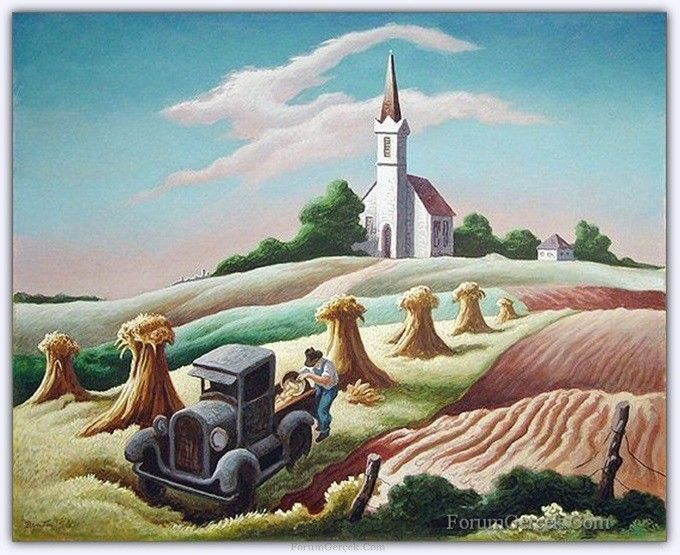 Thomas Hart Benton (1889 - 1975) | Amerikalı Ressam - Forum Gerçek