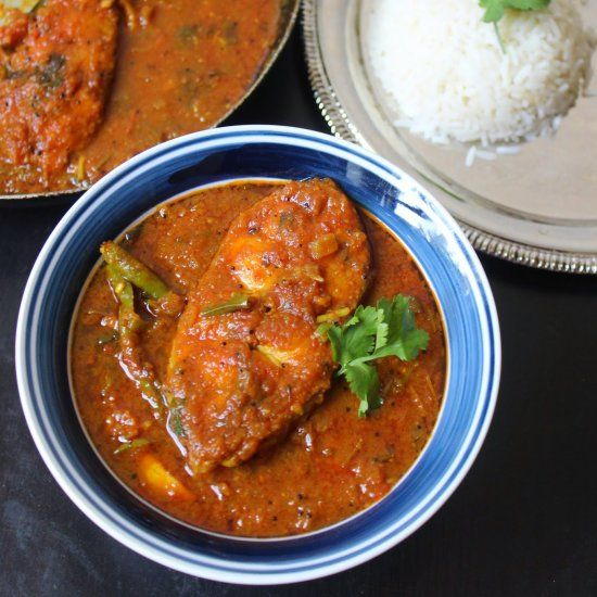 South Indian Spicy Catfish Curry Perfect With Idly Dosa Rice Bread Fish Curry Curry Indian Food Recipes