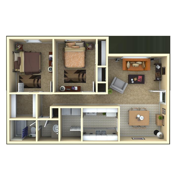 2 bedroom 1 bath 900 sq ft This is a great floor plan