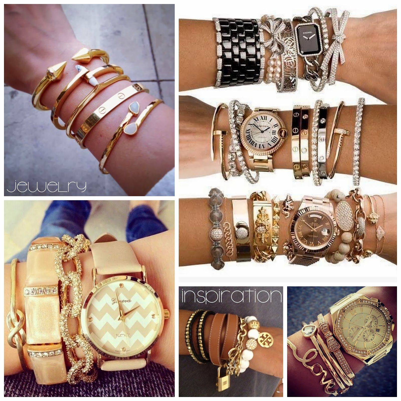 armparty | stacked bracelets | jewelry | stacked watches