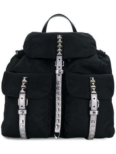 16273e6caa5f Prada studded Vela backpack | unusual backpacks | Backpacks, Prada, Bags