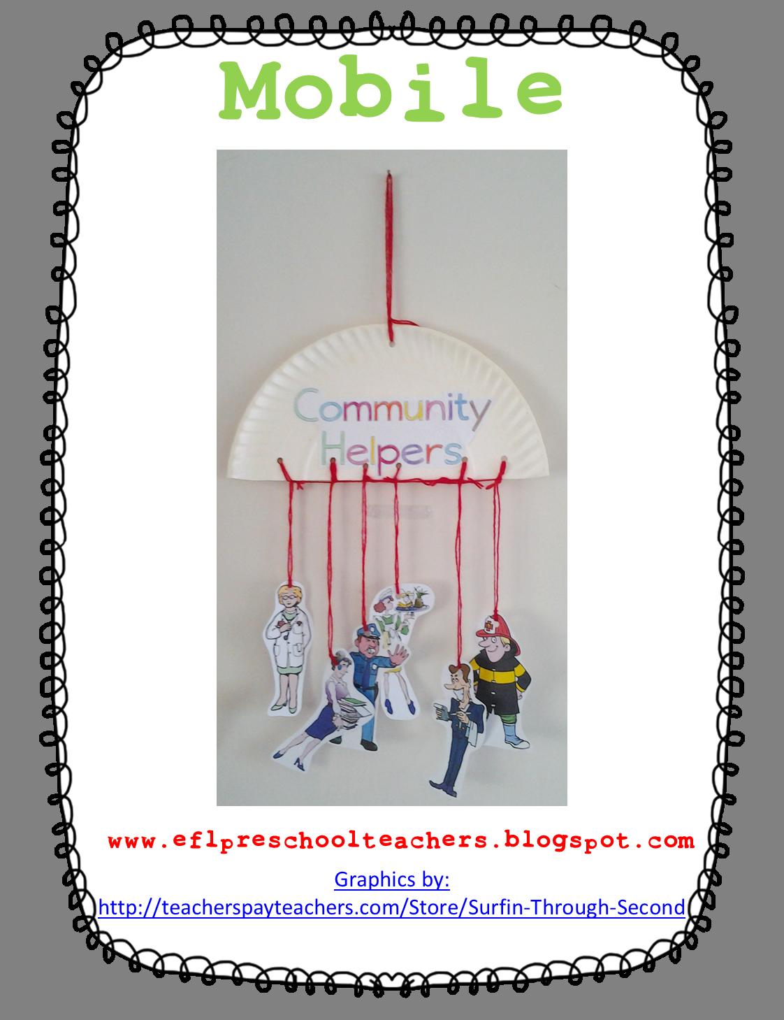 Esl Community Helpers Mobile Craft