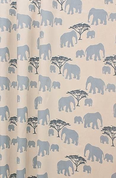 Elephants Blue Novelty Made To Measure Curtains Curtainscurtainscurtainscouk Pid14305 Cid1