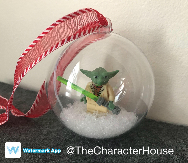 Star Wars Yoda Lego Christmas Tree Ornament By Thecharacterhouse On