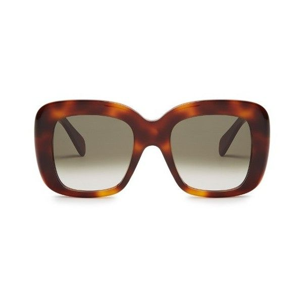 103dde500432a Céline Sunglasses Oversized D-frame acetate sunglasses ( 264) ❤ liked on  Polyvore featuring accessories