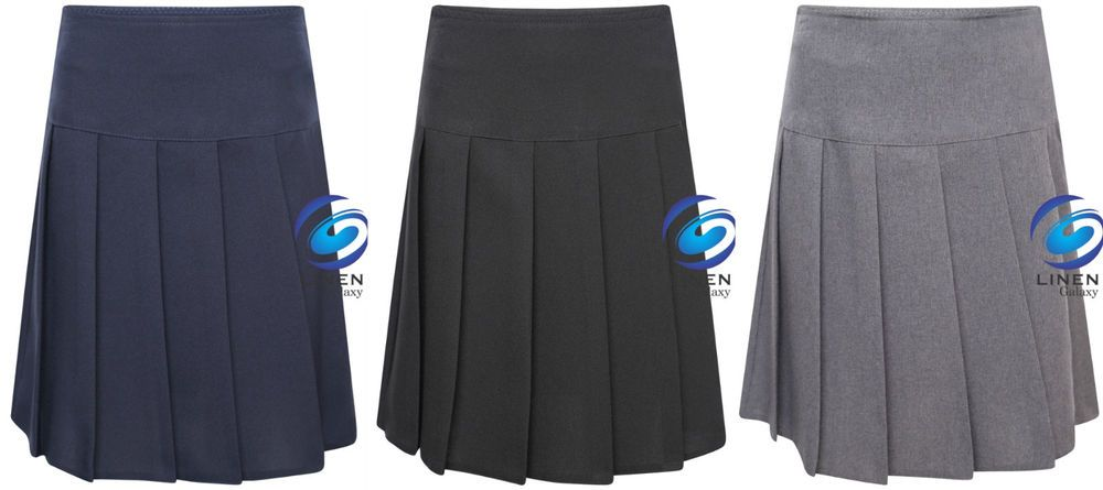 clicktostyles Scool Uniform Girls Navy Blue Skort Sports Outer Skirt and Base Layer Soft Stretch Fabric