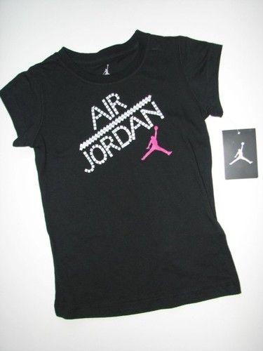 dba195ba On Sale! NEW NIKE AIR MICHAEL JORDAN Jumpman Black Short Sleeve Shirt Girls  Size 6. $13.95 and FREE US SHIPPING!