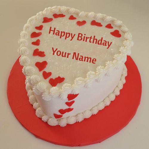 Happy Birthday White Chocolate Cake With Name Huge Bday