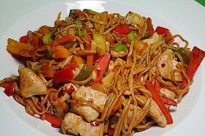 Gebratene chinesische Nudeln #essenundtrinken
