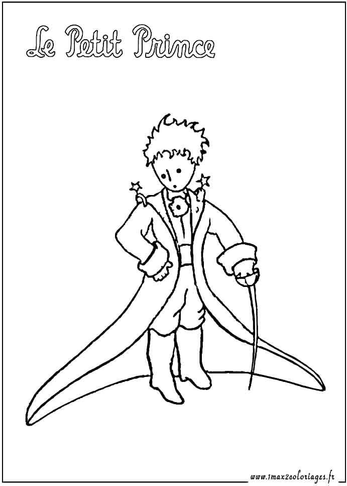 Le petit prince colorier coloriage pinterest prince - Coloriage le petit prince ...