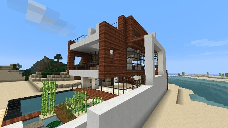 Strandhaus modern  Minecraft Beach House | Small Modern Beach House ... | minecraft ...