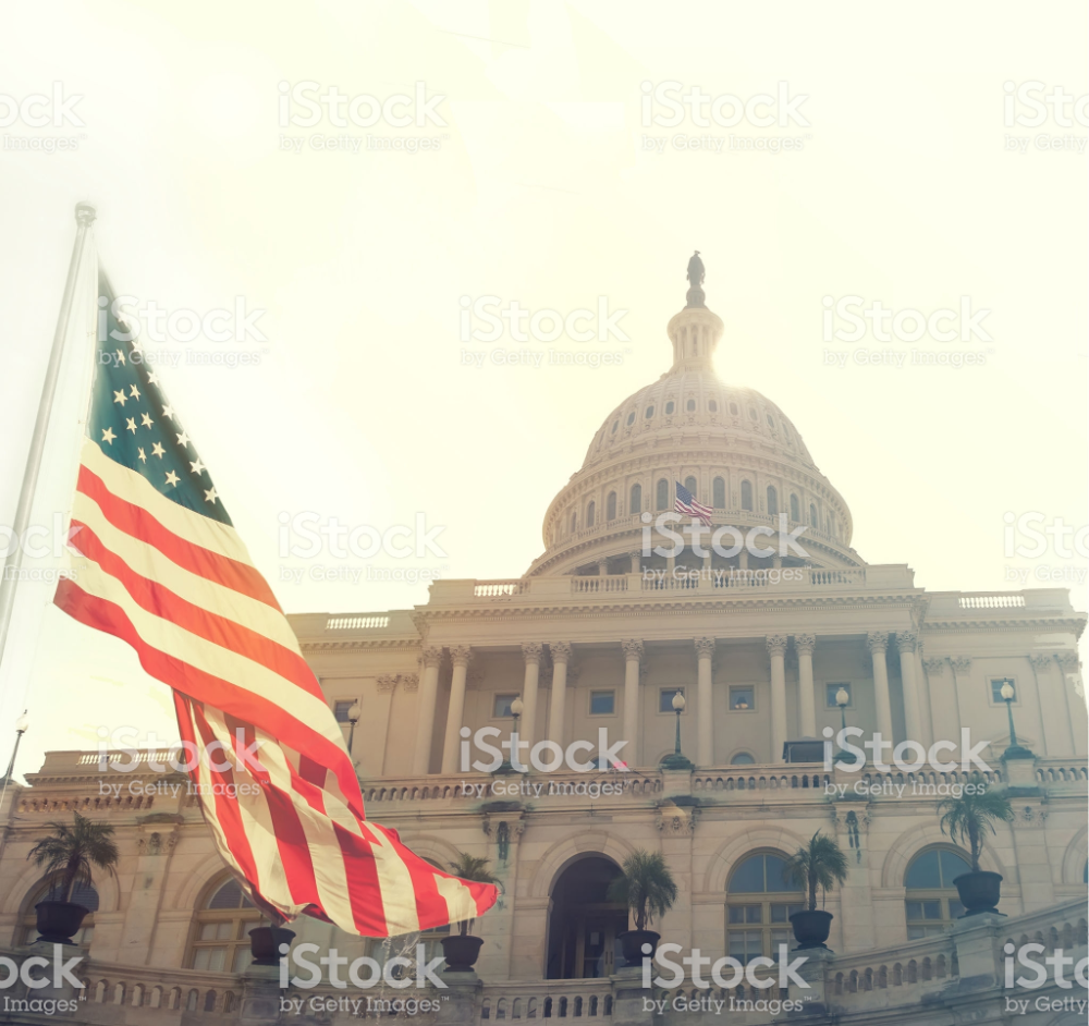United States Capitol Building And Us Flag Washington Dc Capitol Building United States Capitol Capitol Building Washington Dc