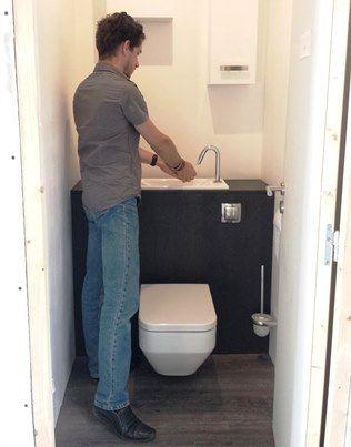 Acces Au Lave Mains Wici Bati 2 Amenagement Toilettes Petite Salle De Toilette Salle De Toilette