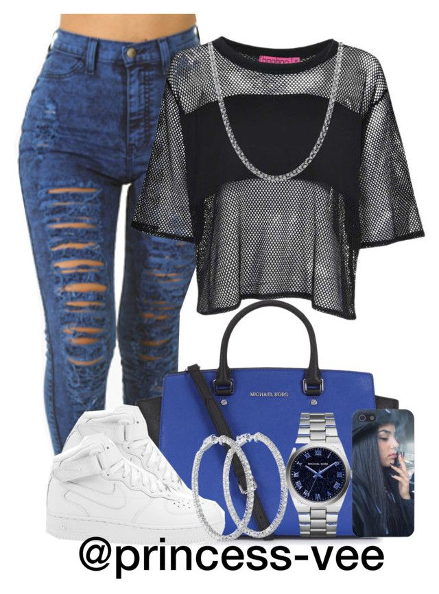 """I'm The One, F*ck Two. And I'm Her, B*tch F*ck You!"" by princess-vee ❤ liked on Polyvore featuring Boohoo, Michael Kors, NIKE, MICHAEL Michael Kors and Fremada"