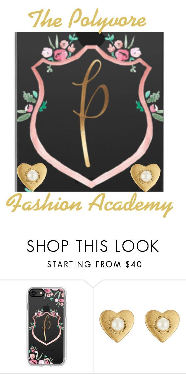 """The New Polyvore Fashion Academy Crest"" by mackennan ❤ liked on Polyvore featuring beauty, Casetify and Marc Jacobs"