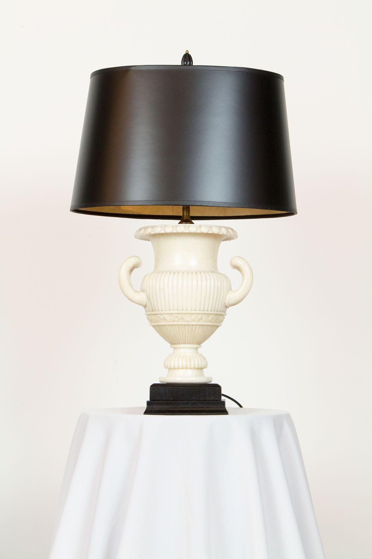 Pair Of Alabaster Urn Lamps Jarrones Decorativos Jarrones