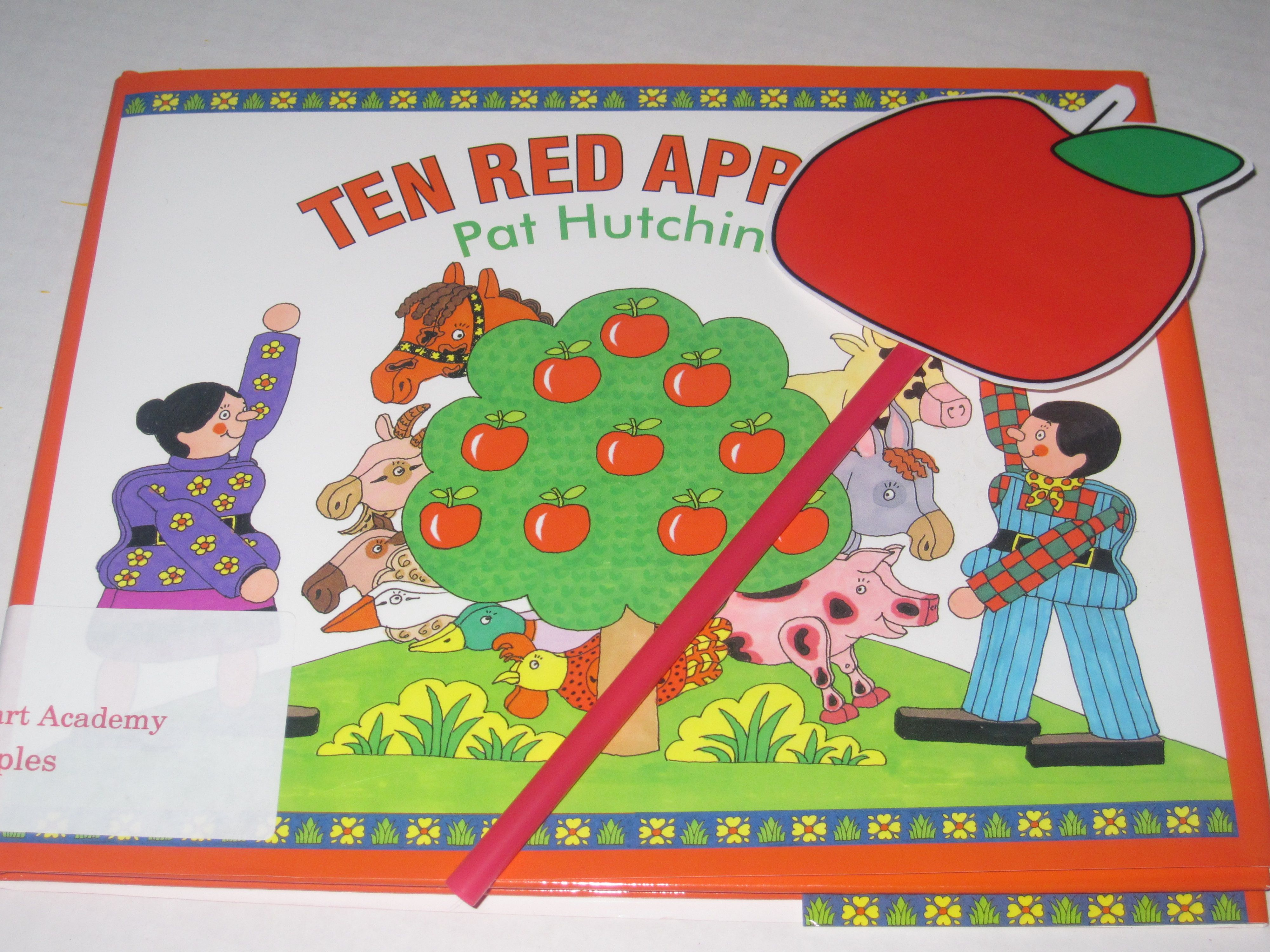 Counting Ten Red Apples For Preschool Math