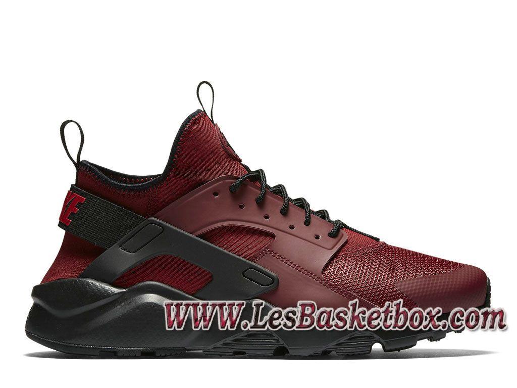 best website 3de29 040fd Nike Air Huarache Ultra Rouge Noires 819685 601 Chaussures Officiel Urh  Pour Homme Rouge