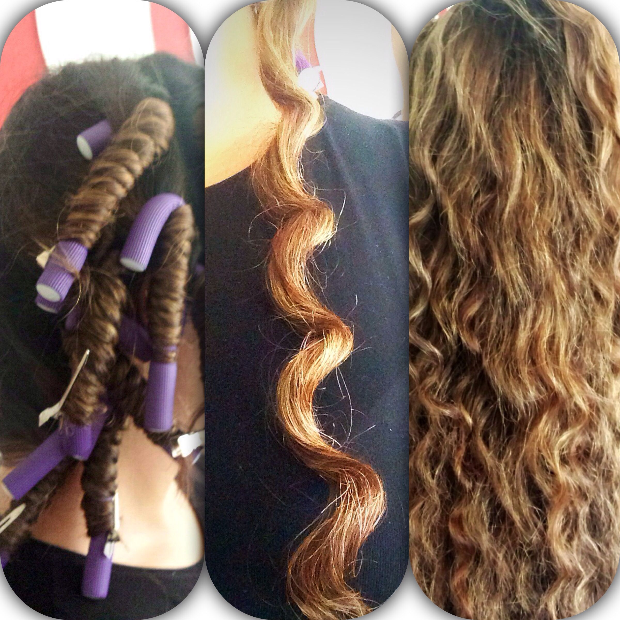 Get Perfect Heatless Hollywood Curls By Using Bendy Rollers And Blowdry Voila Perfect Beach Curl Ha Hair Styles Hair Rollers Tutorial Beautiful Long Hair