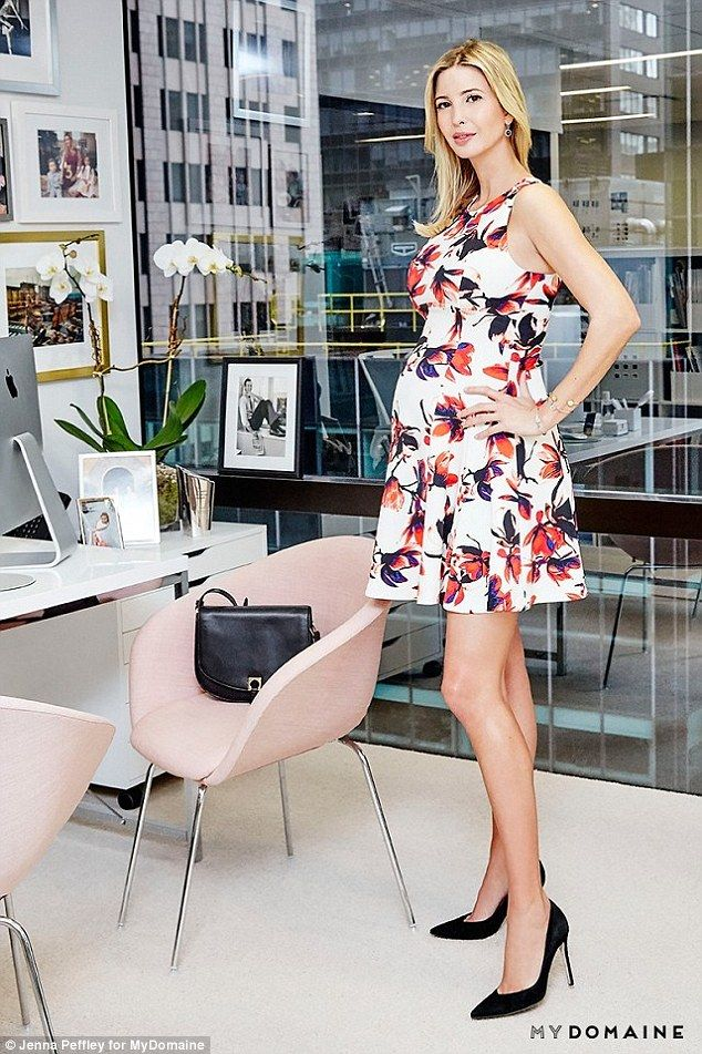 Headquarters: Ivanka Trump looked radiant when she gave a tour of her chic  Manhattan office