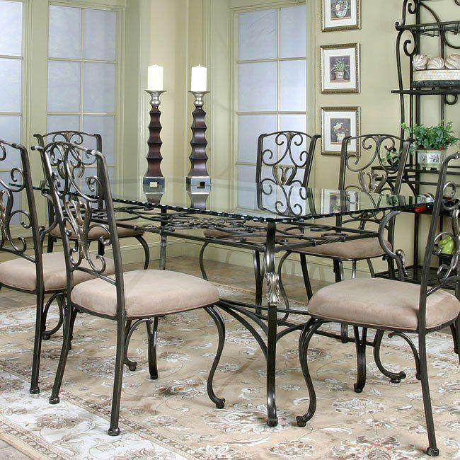 Wescot Rectangular Glass Dining Table Diseno De La Sala De