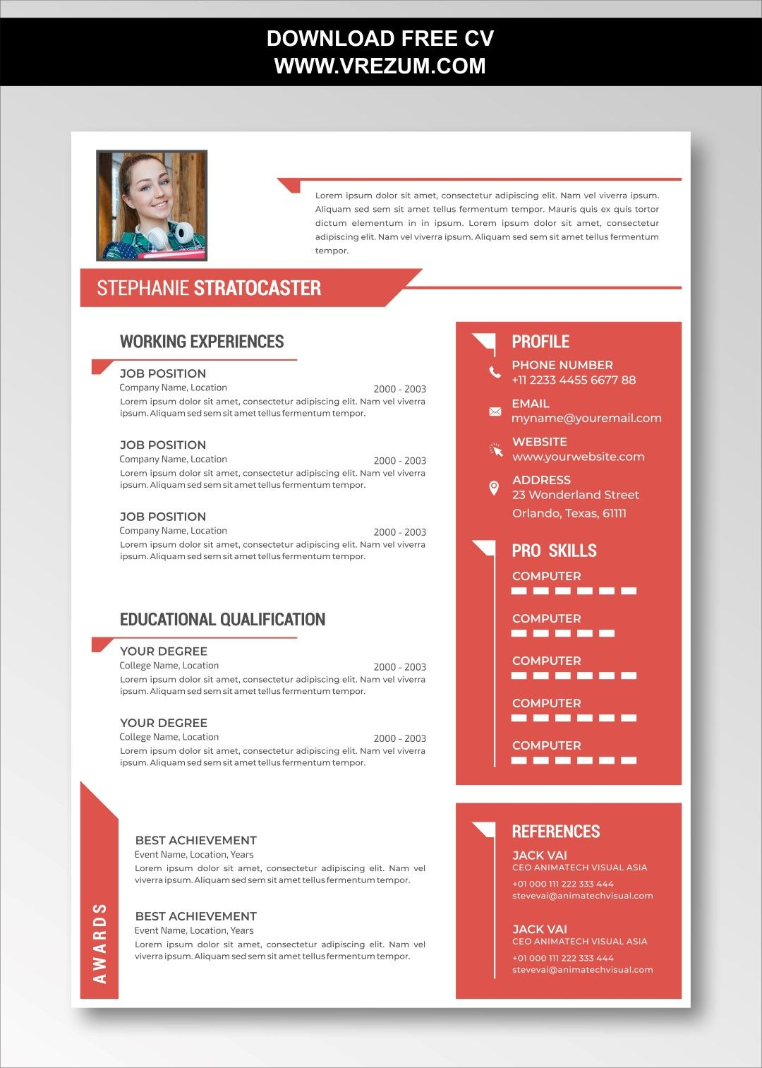 (EDITABLE) FREE CV Templates For English Teacher in 2020