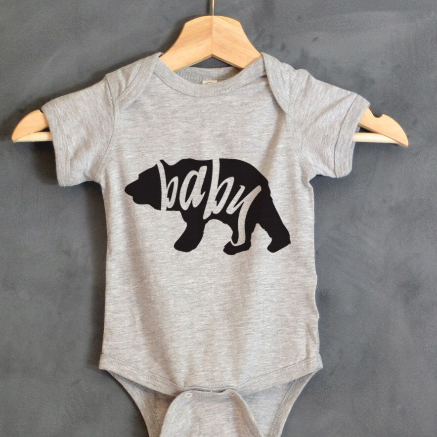 Baby Bear Bodysuit, Baby Bear Onsie, Baby shower gift, First birthday, Mama Bear, Papa Bear, Baby gifts, Baby Bear shirt, Baby Outfits by HelloHandpressed on Etsy https://www.etsy.com/listing/252287111/baby-bear-bodysuit-baby-bear-onsie-baby