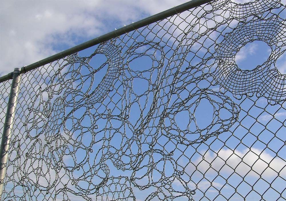 Pin by Edie Wallace on Odd Art | Pinterest | Chain link fencing ...
