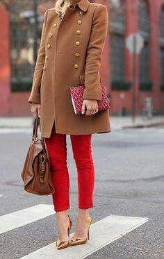 Rojo y camel