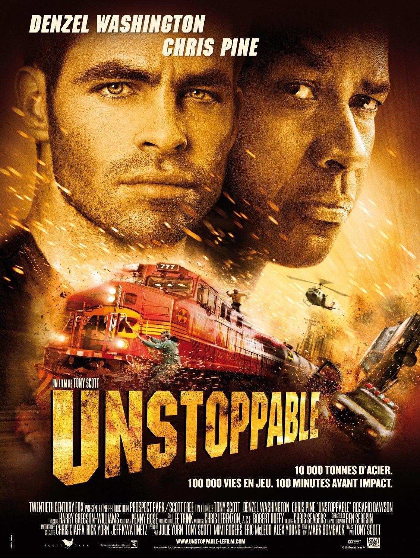 Unstoppable 2010 Dual Audio Hindi 720p Bluray X264 Ac3 850mb Esub Hollywood Poster Sparks Movies Denzel Washington