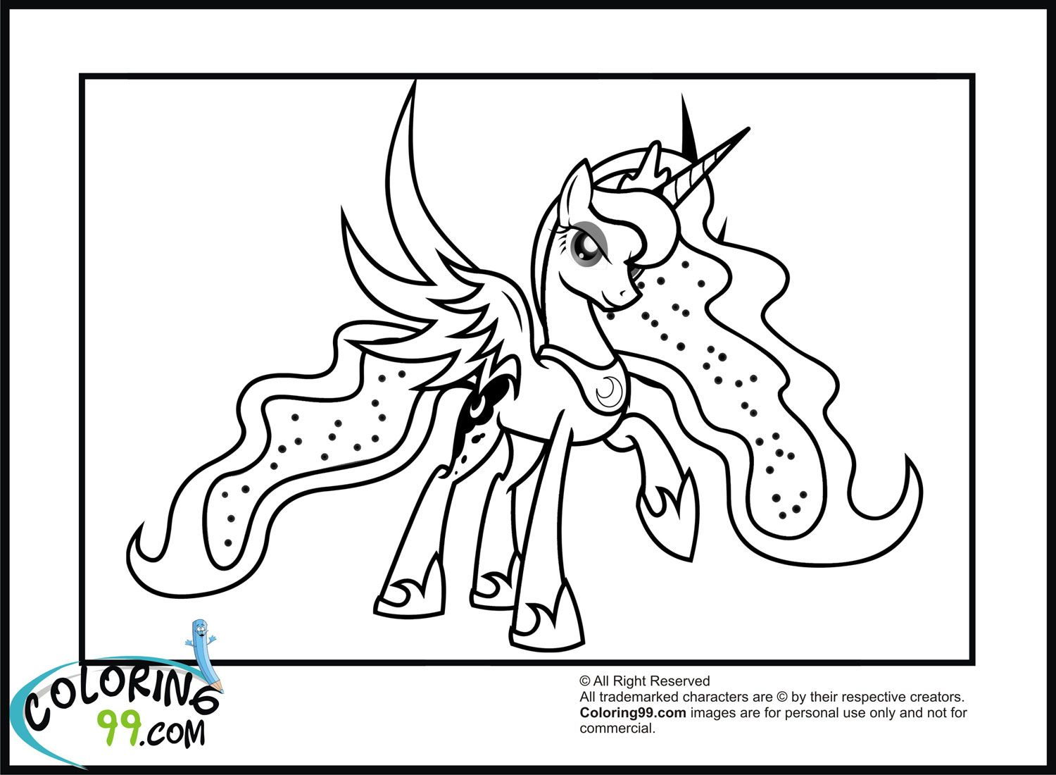 My Little Pony Princess Luna Coloring Pages Minister ...