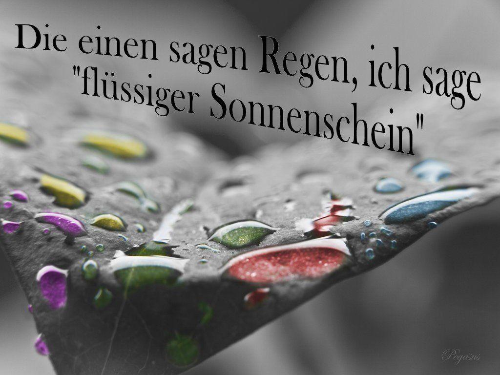 Pin von Sibylle Ohl auf Regen | Regen sprüche, Gute ...