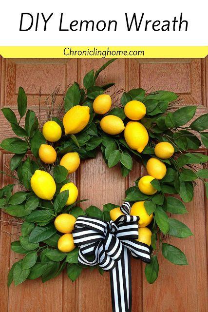 30 Stunning Summer Wreaths Knock Knock Diy Spring Wreath Lemon Wreath Summer Diy