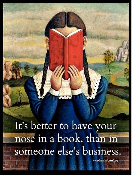 The nose knows the best place to be is in a good book.