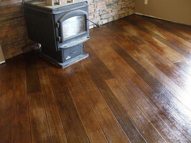 Decorative Concrete Wood Basement Floor Concrete Stained Floors