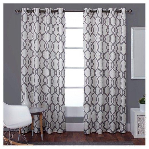 Kochi Linen Blend Grommet Top Window Curtain Panel Exclusive