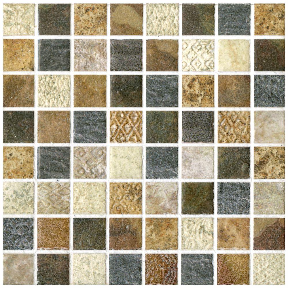 Somertile 775x775 In Montage Tressor Decor Ceramic Tile Pack Of